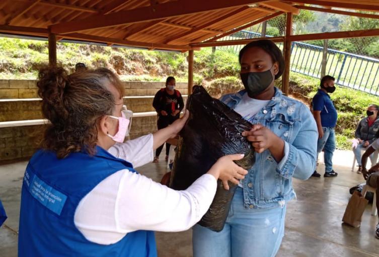 Las familias recibieron ayudas humanitarias por parte de la Unidad de Víctimas.