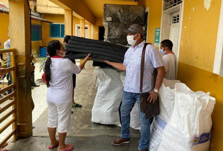Las familias desplazadas recibieron ayudas humanitarias por parte de la Unidad de Víctimas.