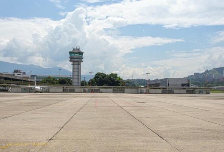 Aeropuerto Olaya Herrera de Medellín.