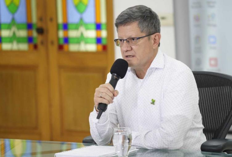 Imagen referencia del gobernador encargado de Antioquia, Luis Fernando Suárez.