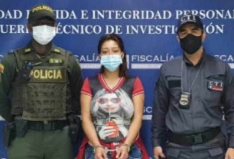 La presunta victimaria fue enviada a prisión en Medellín.