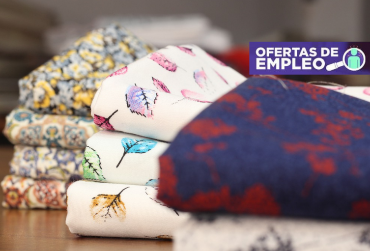 ¡Alerta! Vacantes de empleo en auxiliar de estampación Textil