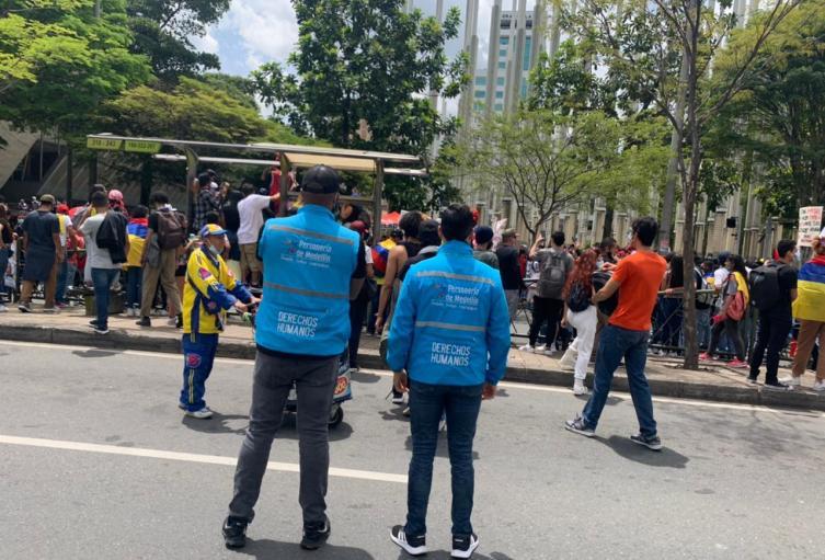 La Personería de Medellín acompaña las marchas para ser garante de los derechos humanos.