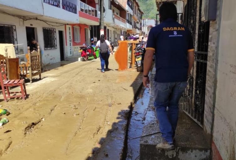 Por las intensas lluvias ese municipio declaró la calamidad pública, informó la Gobernación de Antioquia.