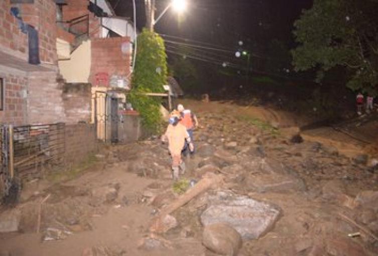 Emergencia por las lluvias en Bello, Antioquia.