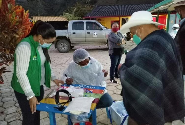 Referencia toma de pruebas en Chocó.