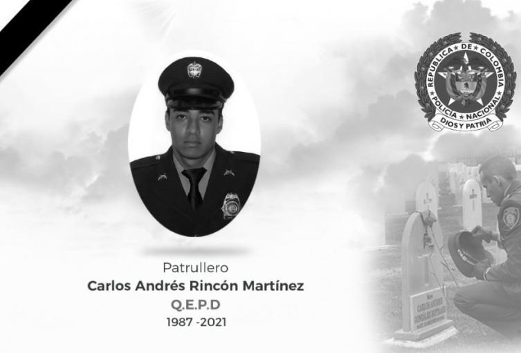 En la ciudad de Medellín se realizan las exequias de patrullero asesinado en Cali
