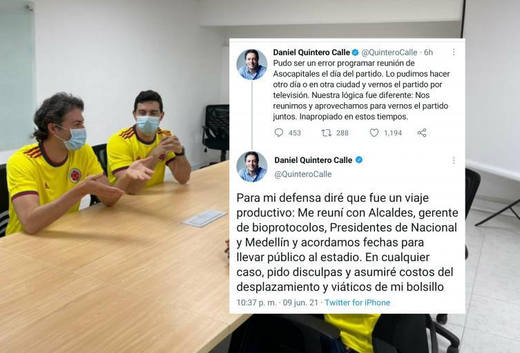 Alcalde de Medellín asumirá los costos del viaje a Barranquilla
