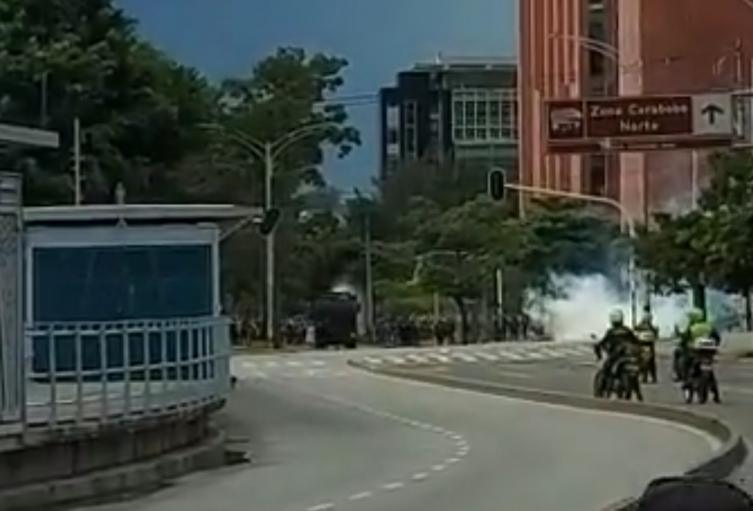Pasajera del Metro de Medellín sufrió lesiones leves tras disturbios
