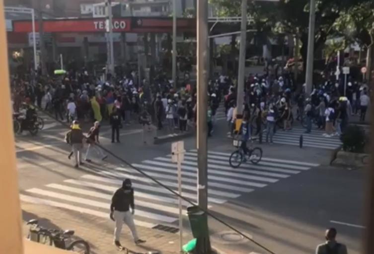 Se registraron disturbios en varios puntos del centro Medellín