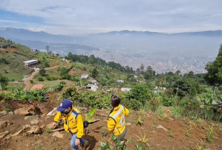 Emergencia en el corregimiento Santa Elena de Medellín.