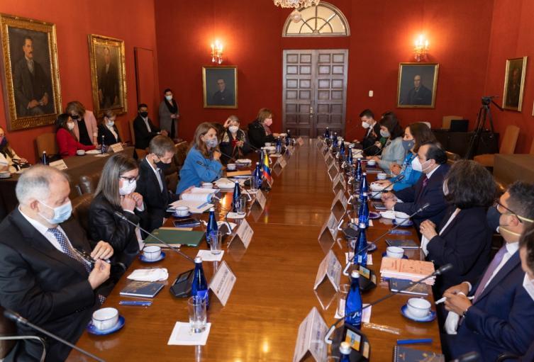 Reunión del Gobierno con delegados de la CIDH.