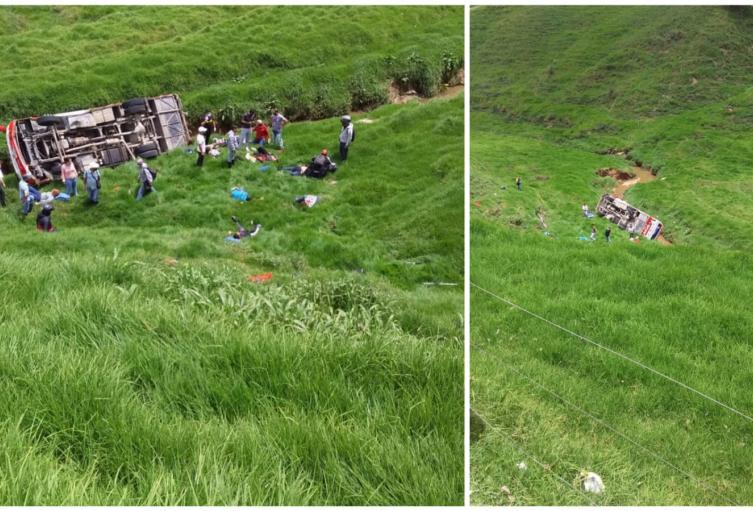 El automotor rodó más de 40 metros, informaron las autoridades.