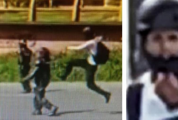 [Video] La patada karateca de manifestante que dejó noqueada a mujer policía en Medellín