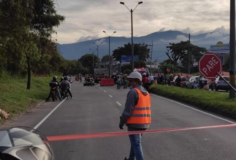 Tragedia en las vías, dos motocicletas fallecieron en el municipio de Itagüí