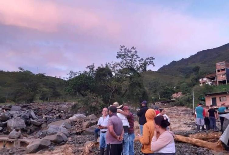 Afectaciones por las precipitaciones en Briceño, Antioquia.