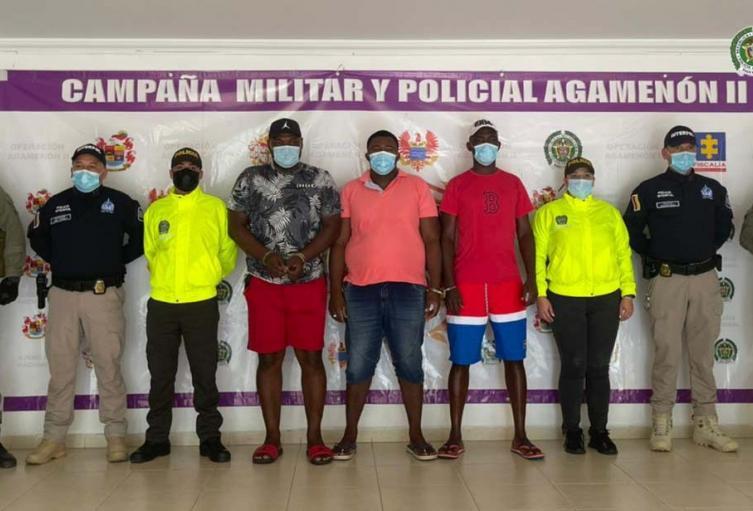Estas personas harían parte del ala narcotraficante del Clan de Golfo, indicó La Fiscalía.