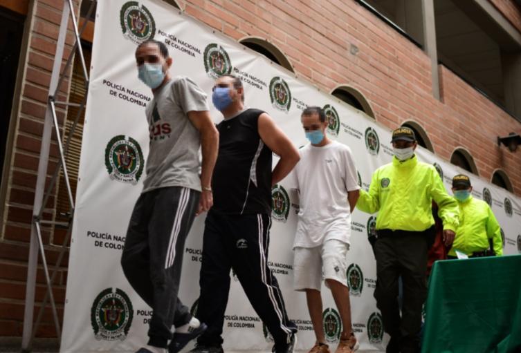 Estas personas fueron capturadas en  Medellín, Bello y San Jerónimo.