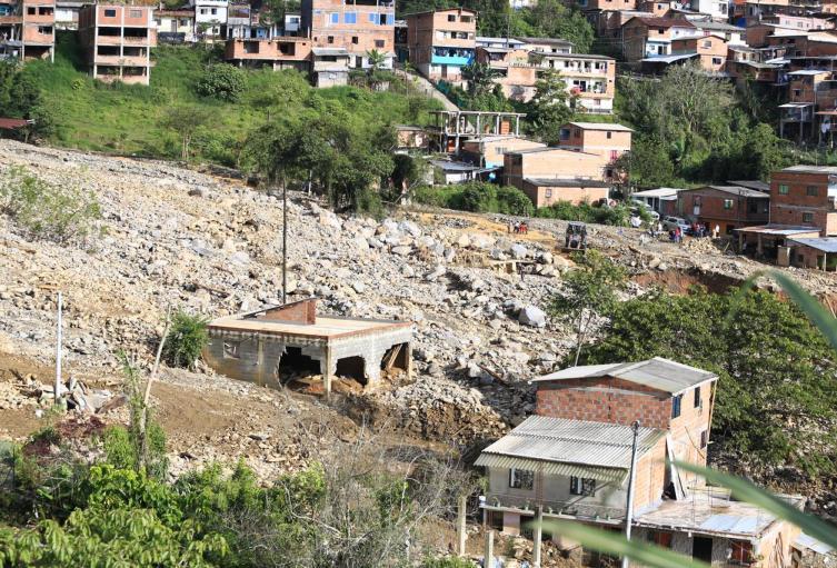Emergencia invernal en Briceño, Antioquia.
