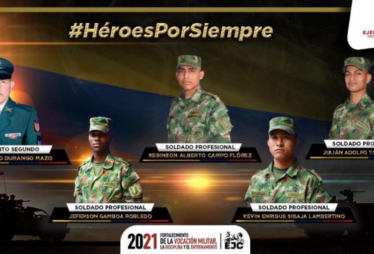 Militares asesinados en Arauca.