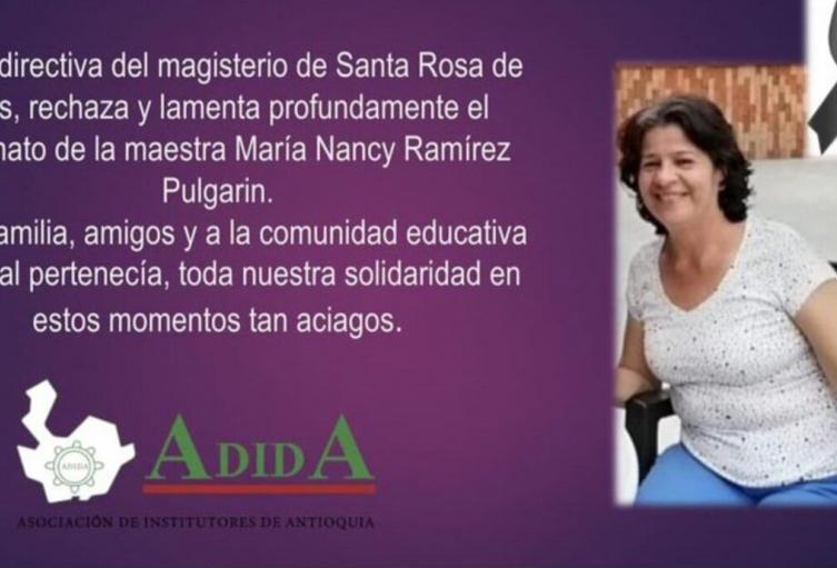 Docente María Nancy Ramírez Pulgarín.