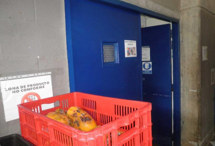 Así estaba el lugar de almacenamiento de alimentos en la cárcel.