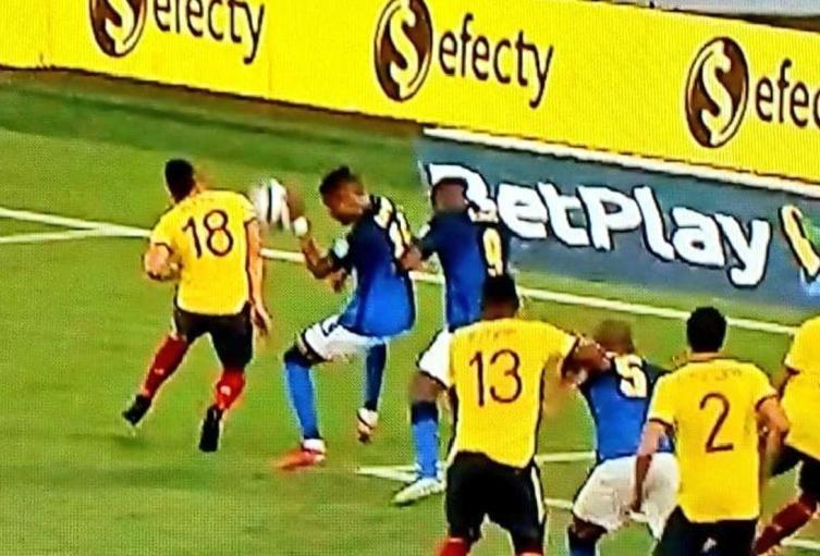 Mano en Colombia Vs Brasil