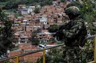 Foto de referencia de la Comuna 13 de Medellín.