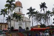 Referencia parque principal de Ituango.