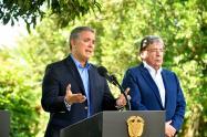 Presidente Iván Duque y el canciller Carlos Holmes Trujillo