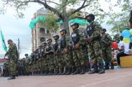 Llegada de soldados al Bajo Cauca.