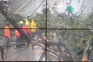 Afectaciones por las lluvias en el Tranvía de Ayacucho.