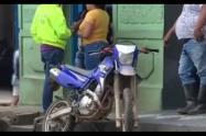 Momento de la captura de los extorsionistas en Yolombó.