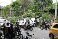 Este incidente dejó dos personas lesionadas.