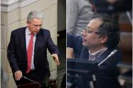 Álvaro Uribe y Gustavo Petro, congresistas