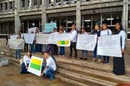 Protesta por captura de cinco personas en Segovia y Remedios.