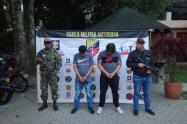 Por estos hechos dos cabecillas de banda criminal fueron capturados