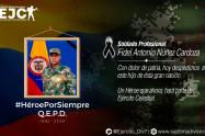 Soldado profesional, Fidel Antonio Nuñez Cardozo.