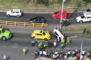 Una persona herida dejó accidente de transito en las Palmas