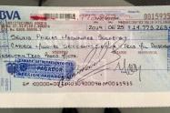 El cheque que no ha reclamado Santrich, por sus primeros días como congresista