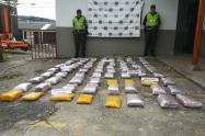 Las droga fue incautada en el vía que de La Pintada conduce hacía Medellín.