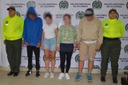 Esta cuatro personas fueron detenidas en Guatapé y San Rafael.