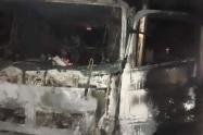 Otros dos vehículos fueron quemados en la vía a la Costa Caribe