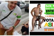 Un candidato al Concejo de Medellín hace campaña sin ropa