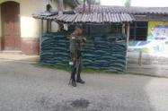 Garita de la policía en Caucasia
