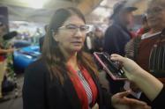 Sandra Ramírez, senadora del partido Farc