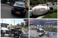 En este incidente resultaron involucrados tres automóviles.