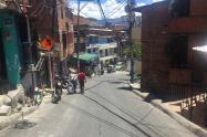 Barrio Popular de Medellín, donde  un bus arrollò a tres mujeres