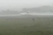 Aeronave se salio de la pista en medio de un fuerte aguacero en el Meta