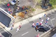 Enfrentamiento de hinchas del Deportivo Independiente Medellín